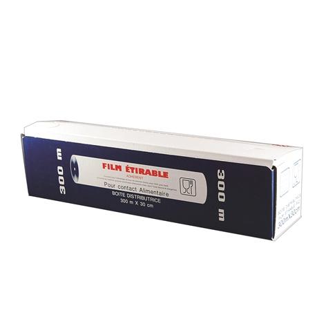 Film tirable pour contact alimentaire 30 cm x 300 m tom press - Film etirable alimentaire cuisine ...
