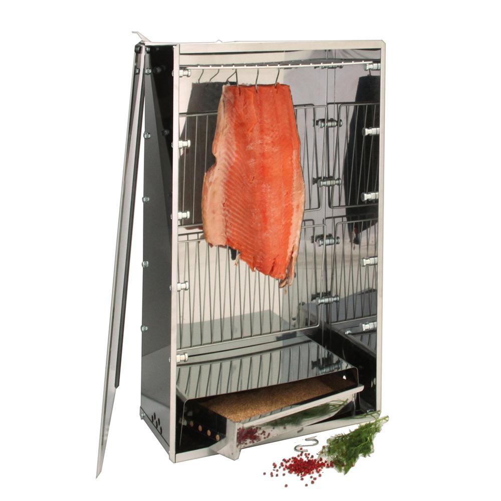 Fumoirs Fumoir De Table En Inox Pour Poissons Et Viandes Barbecue