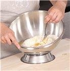 Grand bol pâtissier cul de poule inox 35 cm avec support