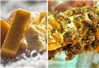 3 tissus alimentaires réutilisables en cire d'abeille remplace le film d´emballage
