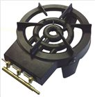 Réchaud à gaz en fonte 3 robinets 8100 W + détendeur butane et tuyau OFFERTS
