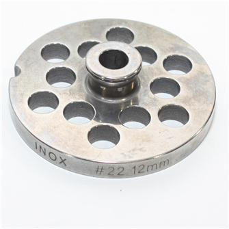 Grille inox 12 mm pour hachoir n°22