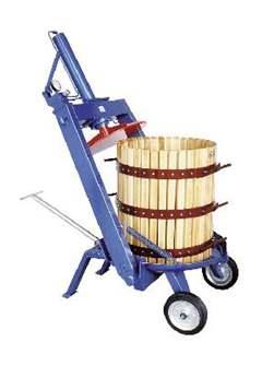 Pressoir hydraulique manuel à étrier 212 litres 60 cm
