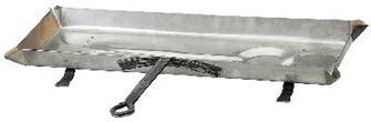 Lèche frite en inox et fer forgé 68 cm