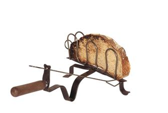 Grille pain fer forgé pour cheminée