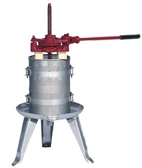 Pressoir à cliquet 128 litres inox