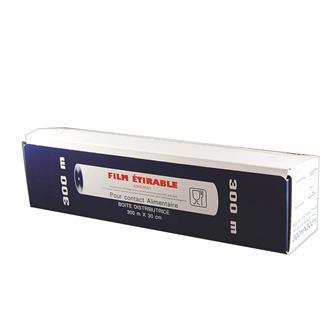 Film étirable pour contact alimentaire 30 cm x 300 m.