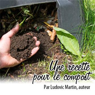 Une recette pour le compost : ustensiles et ingrédients
