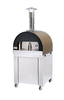 Four à pizza et pain sur chariot tout en réfractaire pour cuissons lentes