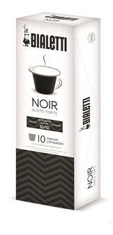 Boîte de 10 capsules de café Bialetti noir intense compatibles Nespresso