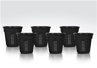 Lot de 6 tasses Bialetti noires