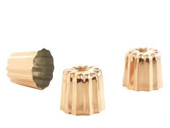 Moules à cannelés Bordelais cuivre moyen par 6