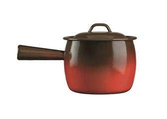 Pot à queue émaillé flamme 20 cm reconditionné