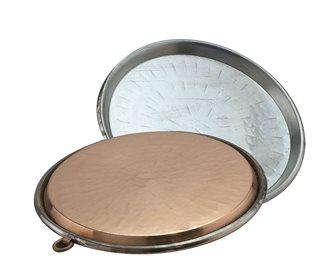 Plat à socca en cuivre 45 cm