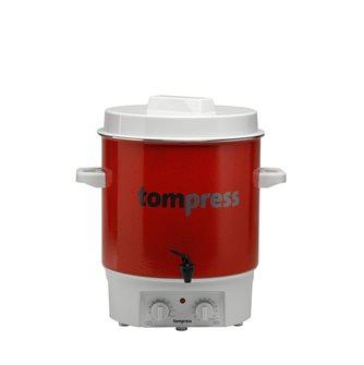 Stérilisateur émaillé électrique avec minuterie et robinet Tom Press pince à bocaux OFFERTE
