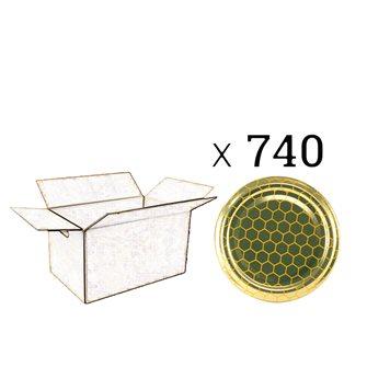 Capsules Twist-off miel alvéoles Diam 82 par 740