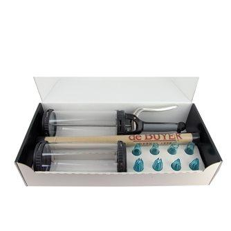 Coffret seringue doseuse automatique avec douilles et tapis