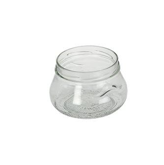 Pot verre bombé avec anses de 640 ml par 11