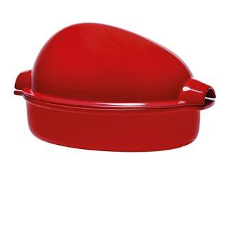 Brique à rôtir XL grande volaille céramique rouge Grand Cru Emile Henry
