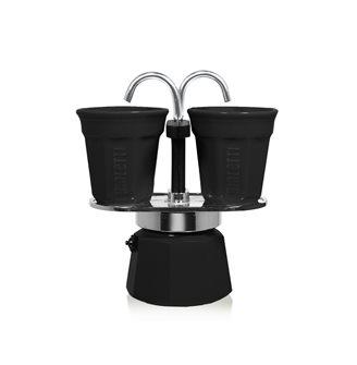Cafetière fontaine deux tasses noire