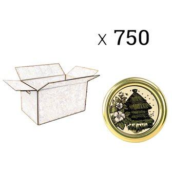 Capsules Twist-off miel ruche Diam 82 par 750