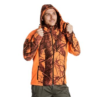 Blouson camouflage orange homme Bartavel Buffalo camo M softshell