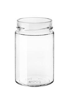 Bocal verre 327 ml diam 69 mm à capsule avec jupe haute par 24