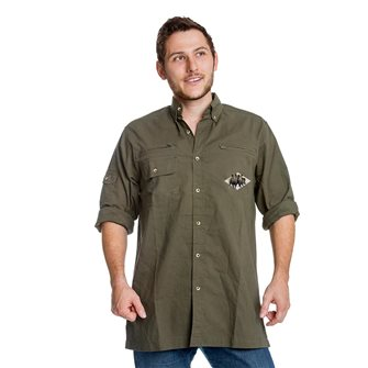 Chemise homme broderie troupeau sangliers Bartavel Hunter kaki 3XL