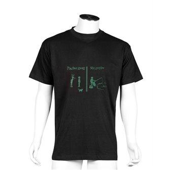 Tee shirt homme Bartavel Nature noir sérigraphie dispute couple pêche M