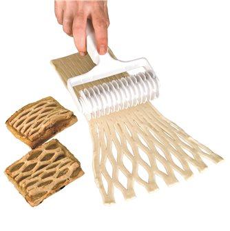 Rouleau découpe pâte à losanges ou croisillons
