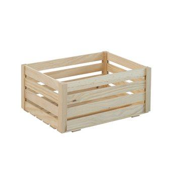 Caisse en bois de pin massif 36 cm