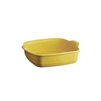 Plat à four carré 23,5 cm céramique Ultime Emile Henry couleur jaune Provence