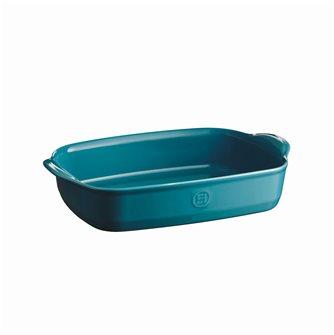 Plat à four rectangulaire 36 cm céramique Ultime Emile Henry couleur bleu Calanque