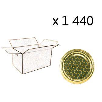 Capsules Twist-off miel alvéoles Diam 63 par 1440