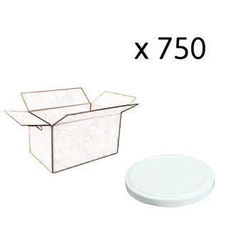 Capsules twist off blanches de 82 mm de diamètre par carton de 750