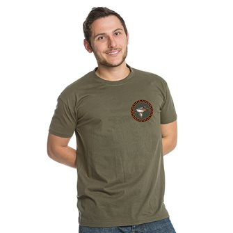 Tee shirt kaki L chasse canard de Bartavel Nature