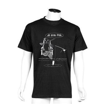 Tee shirt noir L humour pêche Je m´en fish de Bartavel Nature