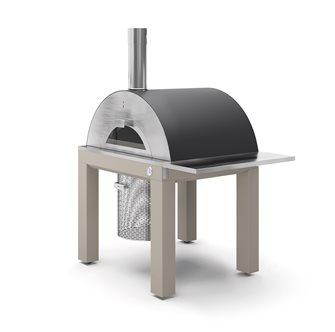 Four à pizza cuisson directe au bois