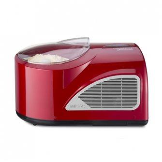 Turbine à glace semi pro tout automatique rouge 1,5 litre en 20 minutes