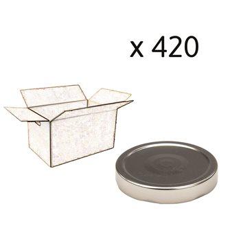 Capsule pour Bocal Jupe Haute diam 82 mm couleur argent par 420