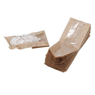 Sachets pour saucisson et saucisse sèche perforé kraft et transparent par 50