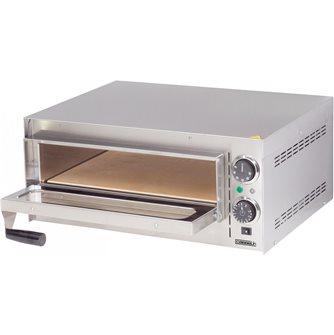 Four à pizza pro inox électrique 2 kW 300°C avec minuteur